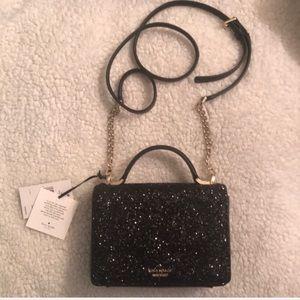 Kate Spade Black Glitter Crossbody Brand New!